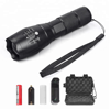 Aluminum high power 1000 lumen 10W rechargeable tactical led flashlight