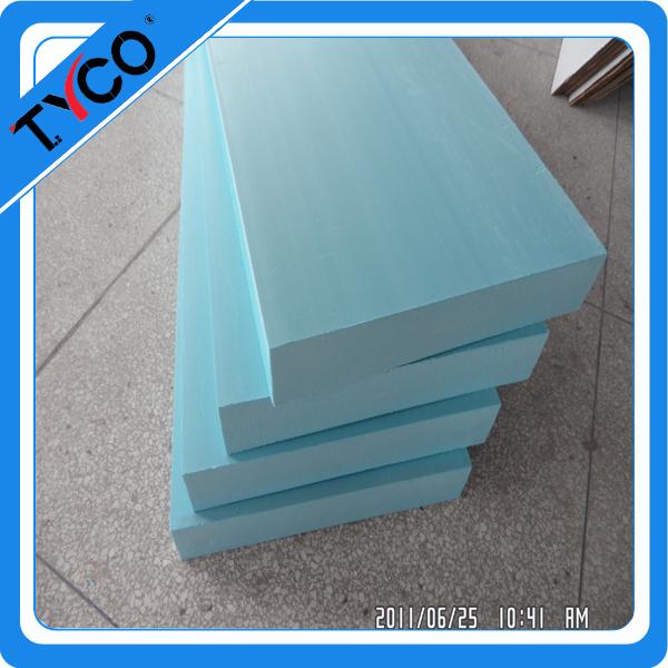Styrofoam build plywood strips
