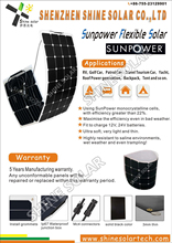 rollable solar panel customer design 50w ultra soft pv module
