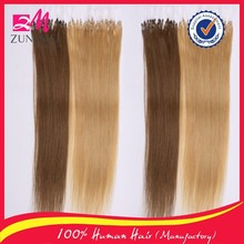 Hot sell and virgin hair unprocessed human hair micro bead weft hair extension