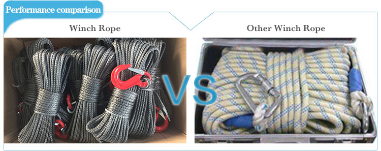 12 strand synthetic winch rope UHMWPE polyethylene fiber rope