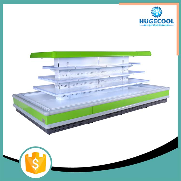 Air curtain advance semi-multideck refrigeration display showcase cooler