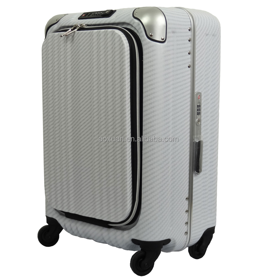 aluninum frame suitcase aluminum frame luggage shanghai factory easy access pocket aluminum frame suitcase luggage