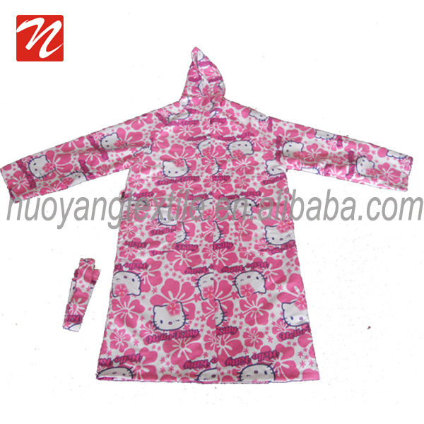 Wholesale Super Soft Print Kids Microfiber Bathrobe