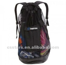 Black high quality and great value beach mesh backpack