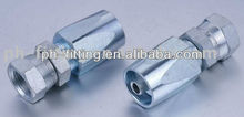 zinc galvanized BSP female 60 degree cone reusable hydraulic fittings