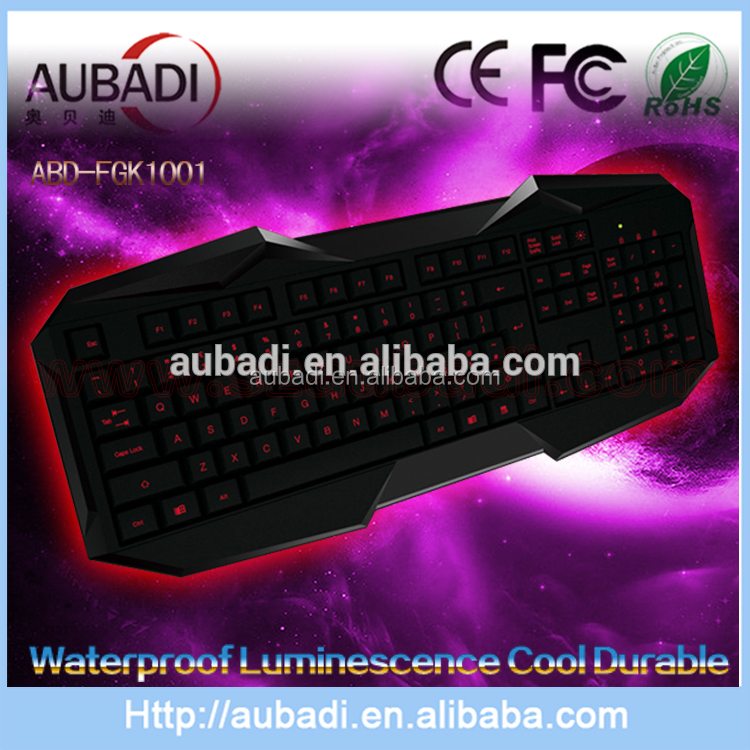 New 2.4Ghz wireless/wired waterproof luminesence durable gaming keyboard, computer accessories