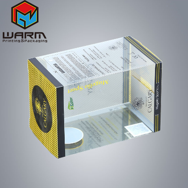 Custom packaging clear PVC PET transparent plastic box with auto-lock