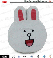 High quality adorable promotional rabbit plush pillow for sale