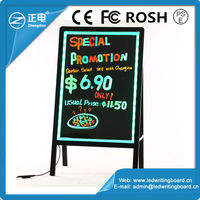 High Quality Alibaba China Stand Independently Acrylic Led Illuminated Sign Board Glow In The Dark