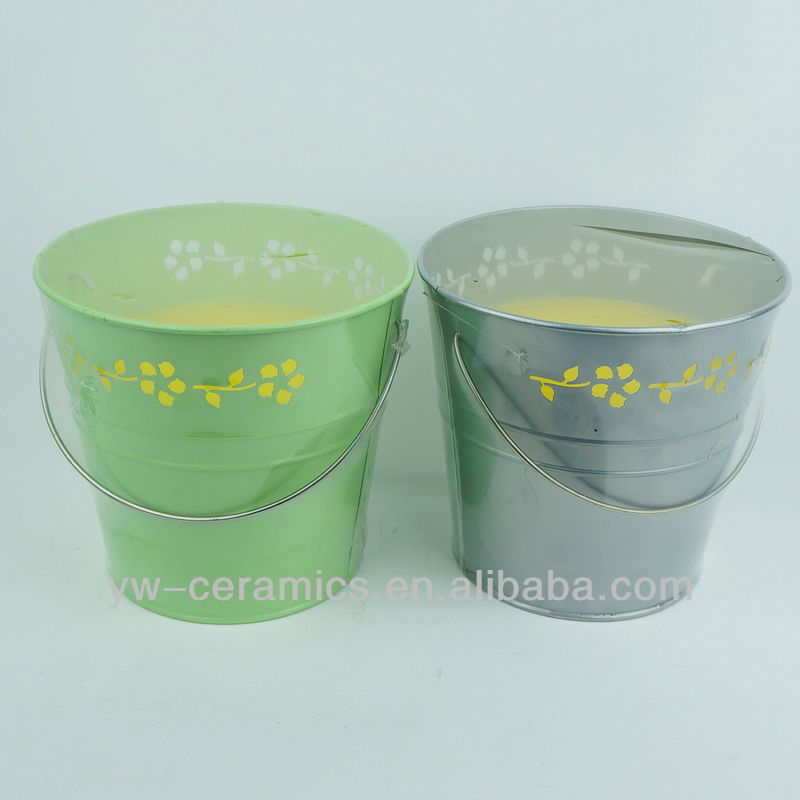 Supplier Of Small Metal Outdoor Bucket Tin Candle