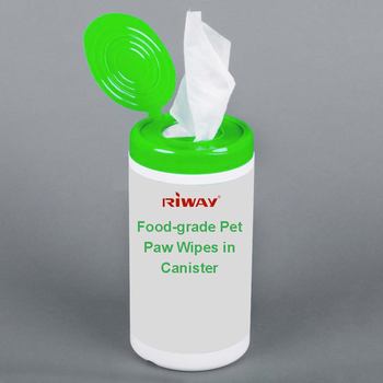 Food-grade Pet Paw Wipes in Canister