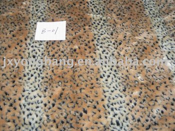 Knitted Long Pile Jacquard Faux Fake Fur for garment