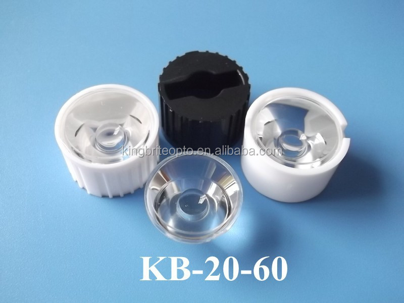 Acrylic lens for led light Epistar 60 degree with housing lens abs pmma