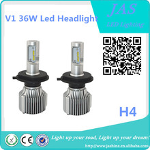 V1 led headlight 72W 8000 lumen H4 led auto car headlight manufacturer car led headlight