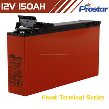 Prostar rechargeable deep cycle solar battery 12v 150ah front terminal for solar power system