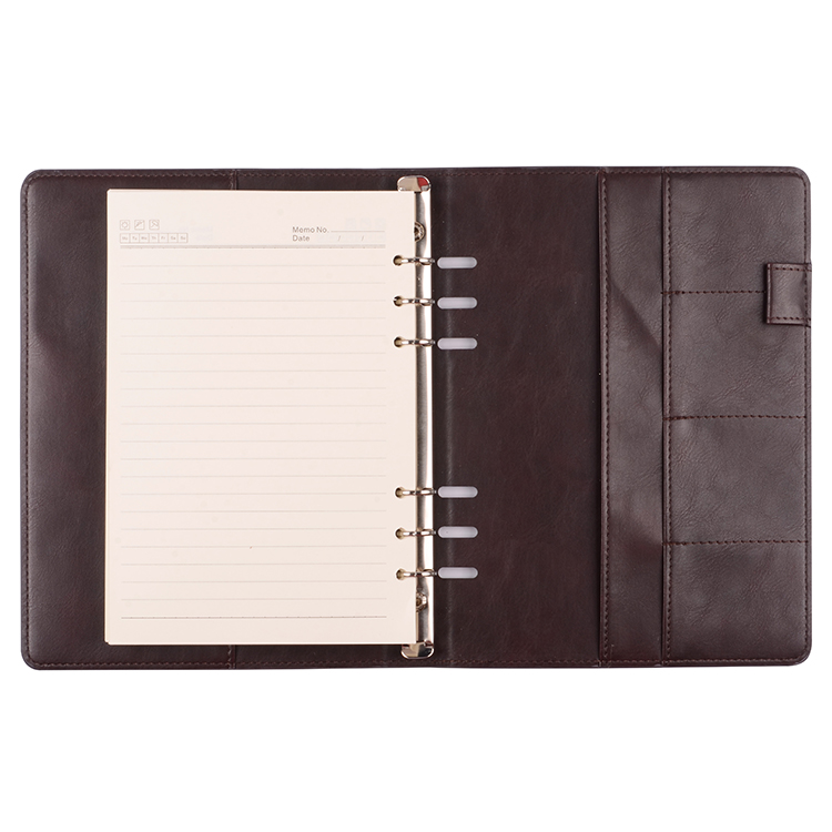 2019 Christmas Gift Handmade Vintage Leather Personalized Notebook With Pen Bag
