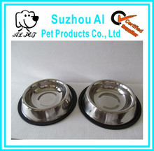 High Quality Non-slip Staniless Steel Wholesale Dog Bowl Rubber Ring
