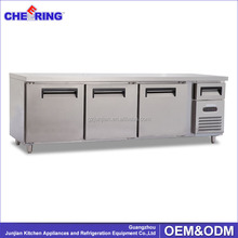 Commercial Stainless Steel 3 Doors Bar undercounter refrigerator
