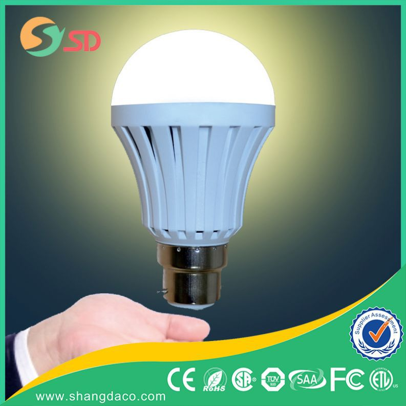 2016 Top-rated 5w 7w 9w 12w 15w Rechargeable Battery Operated Powered LED Bulb Emergency Light