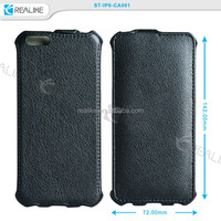 new product black flip pu lychee original leather for apple iPhone 6 case