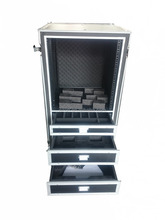 drawers and dividers road ready flight case /microphone flight case /flight case drawer inside shaped foam