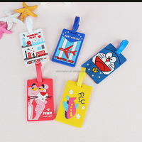Cartoon Silicone Rubber Plastic Custom Logo on Luggage Tag Travel Tag and Name Tag