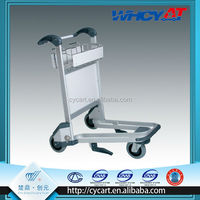 Aluminum Alloy airport luggage trolley cart with brake system