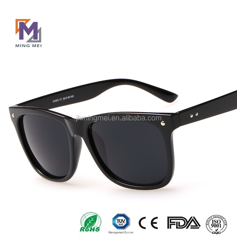 2016 new retro designed custom logo mirror lens acetate sunglasses
