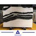 Panda white marble slabs with black veins marble tile