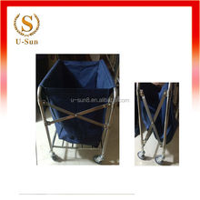heavy duty stainless steel hotel laundry trolley and cart linen trolley housekeeping service cart