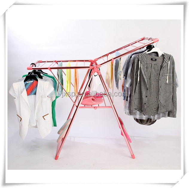 Aluminum fold up used metal hook plastic cloth hanger clothes tree