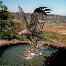 metal antique fountain sculpture outdoor large bronze eagle statue for sale