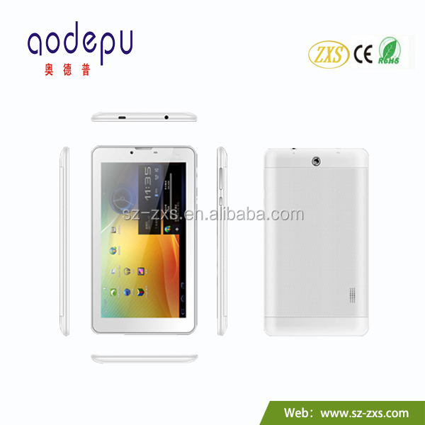 zxs-7 inch dual core dual sim tablet 800*480 resolution dual cameras bluetooth 3g calling China cheap tablet