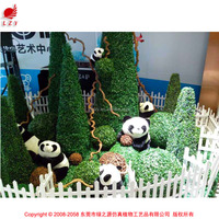 Tower type artificial decorative boxwood topiary tree /grass plant for landscape