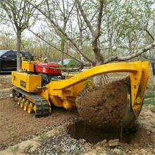 Tree spade transplanting Earth moving machinery