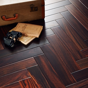 Good design economic engineered herringbone parquet flooring black walnut flooring