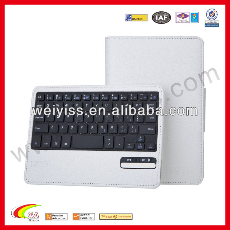 For ipad keyboard case for ipad 2 3 4 removable detachable Wireless Bluetooth