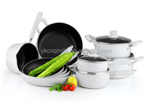 14 pieces pressed aluminum cookware set with non-stick coating QD-S1214