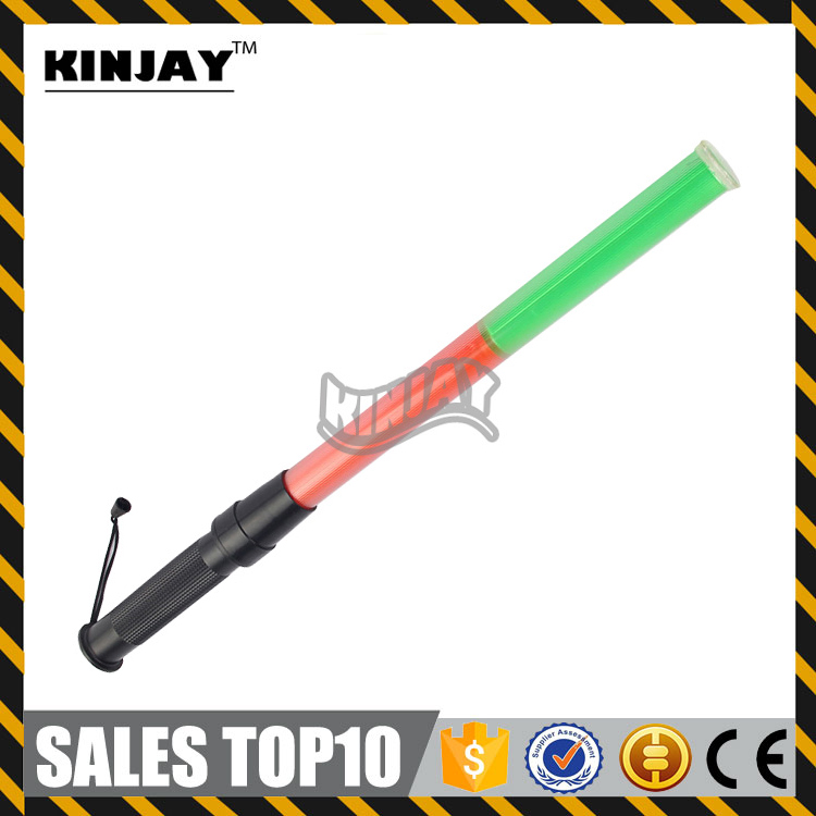 Best Price Red Green Led Traffic Tactical Tonfa Baton Led Security Baton marshalling torches