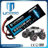 Upower high rate C 5200mah 3.7v rc 1500mah car battery for rc drift car