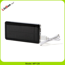 Most Popular 12800mAh 2.1A Solar Power Bank Charger For iPad Pro For iPhone 6S