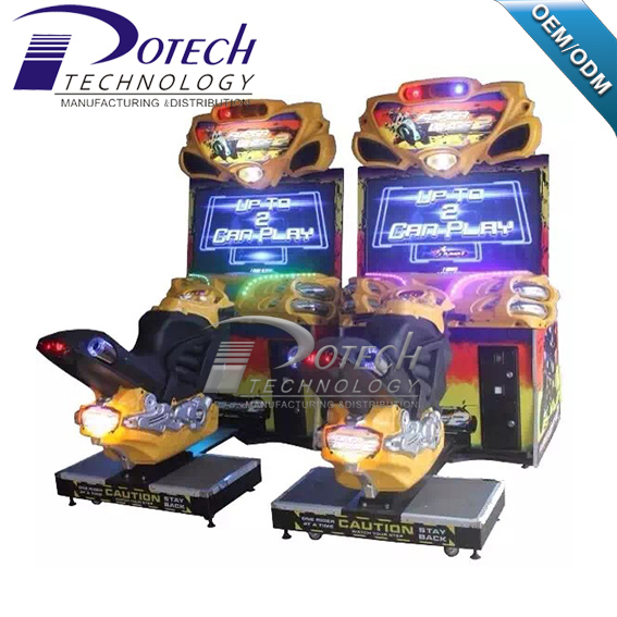 FF motor Arcade game 42 inch Bike racing games machines for children