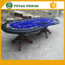 10 person wooden oval poker table dimension for sale