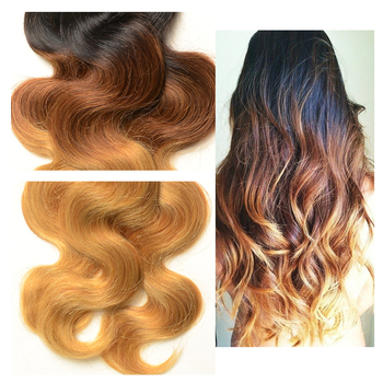Wholesale Three Tone Ombre Peruvian Hair Extension Human Hair, Halo Hair Extension