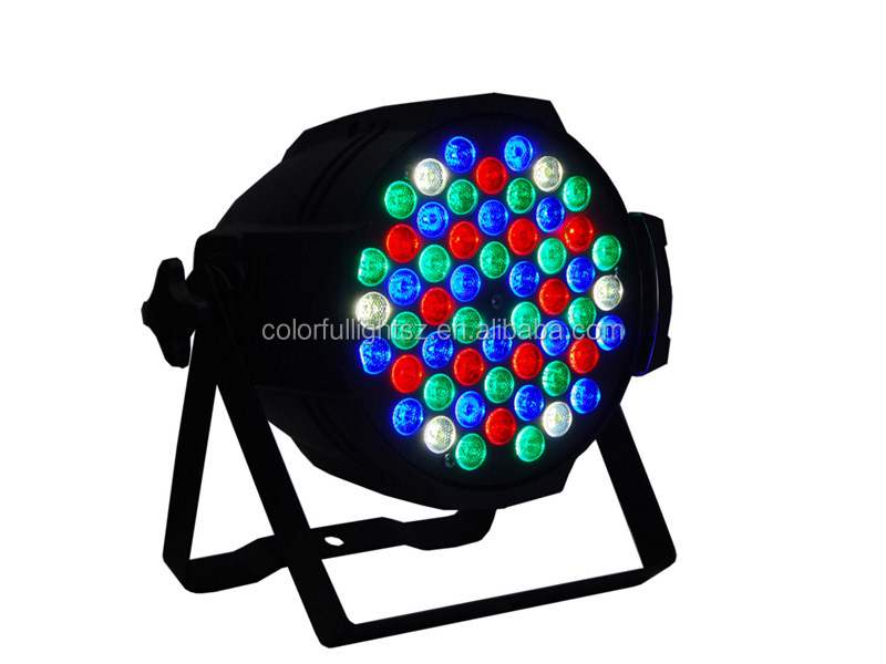led submersible aquarium light 54*1.5W led par light for Dj show/ RGBW DMX Special Effects lighting ,