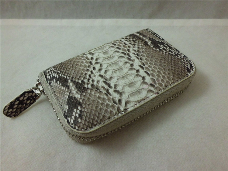 Genuine Leather Key Wallet Pocket Key Case Hot Selling Key Holder Snake Skin Credit Card Wallet