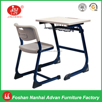 High School Furniture Classroom Chairs Cheap School Single Desk and Chair Standard Classroom Desk and Chair