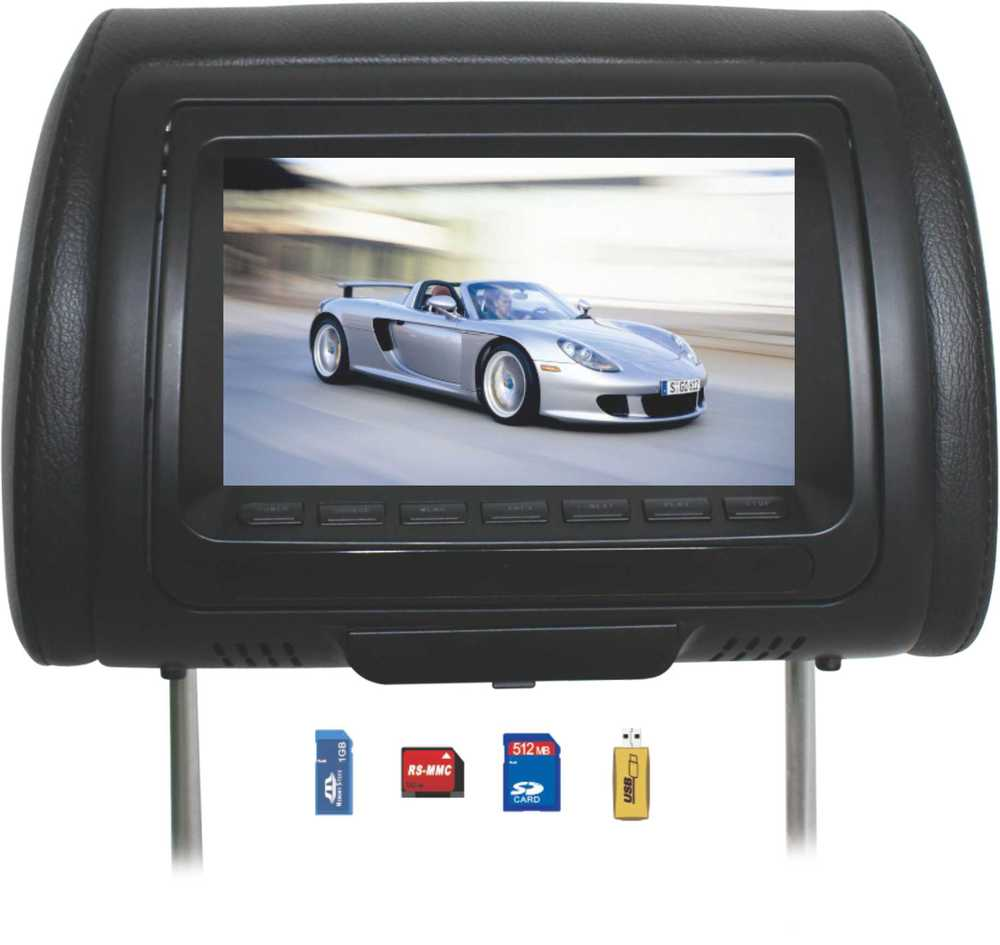 "7""/9""/11"" inch car headrest monitor car dvd player"