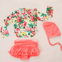 Wholesale High Quality Little Baby Swimsuit Girls Summer Child Swimwear 2pcs